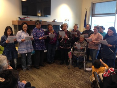 Inupiat choir at Quyana Care Center