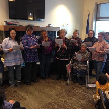 Inupiat choir at Quyana Care Center